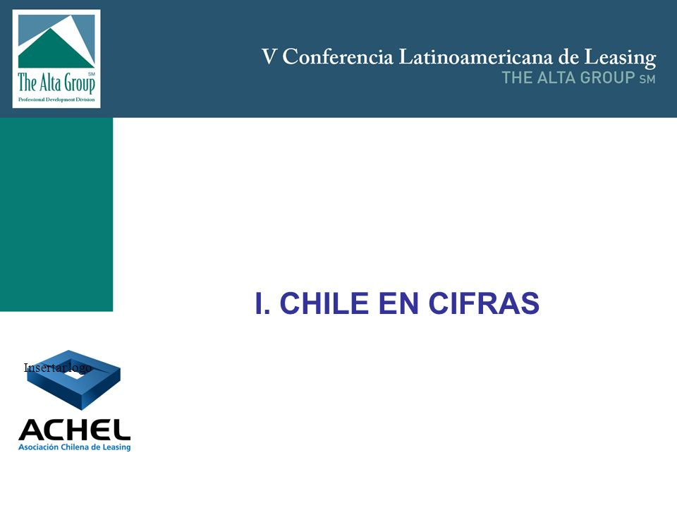 I. CHILE EN CIFRAS Insertar logo