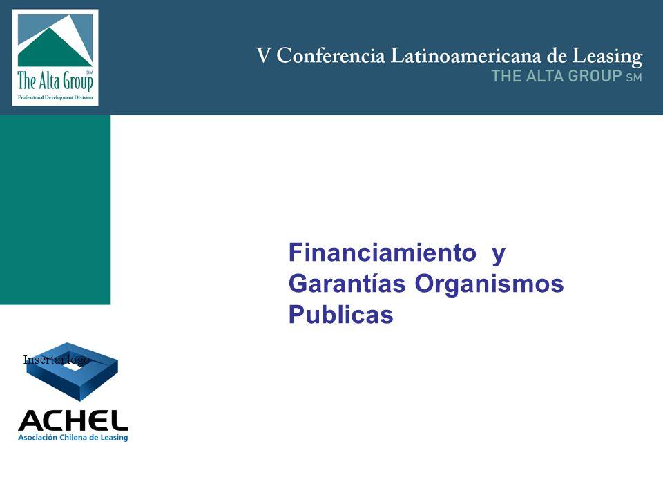 Financiamiento y Garantías Organismos Publicas