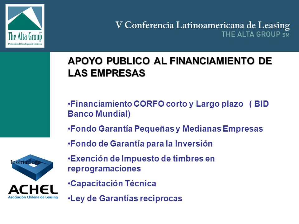 APOYO PUBLICO AL FINANCIAMIENTO DE LAS EMPRESAS