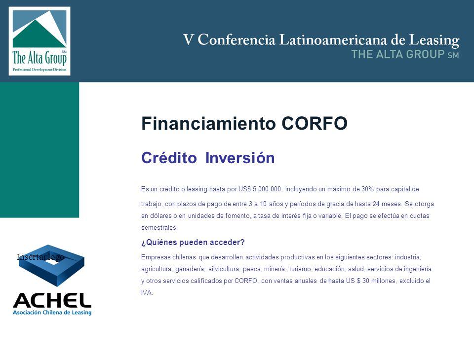 Financiamiento CORFO Crédito Inversión