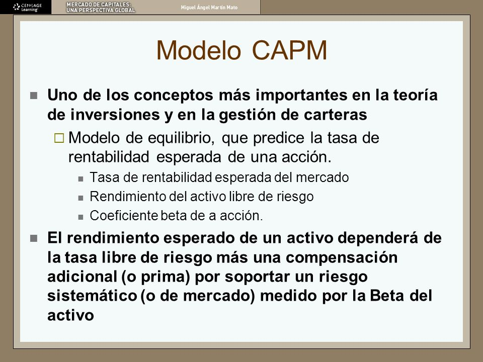 Modelo CAPMUno de los conceptos más importantes en la teoría de inversiones y en la gestión de carteras.