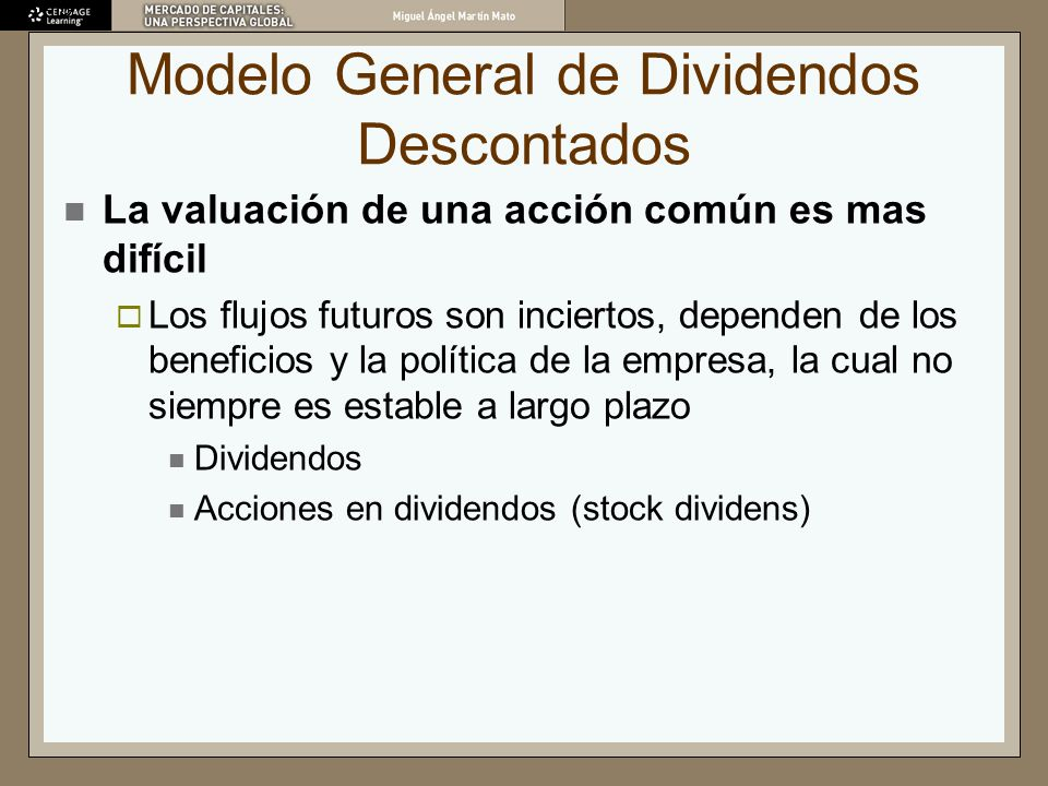 Modelo General de Dividendos Descontados