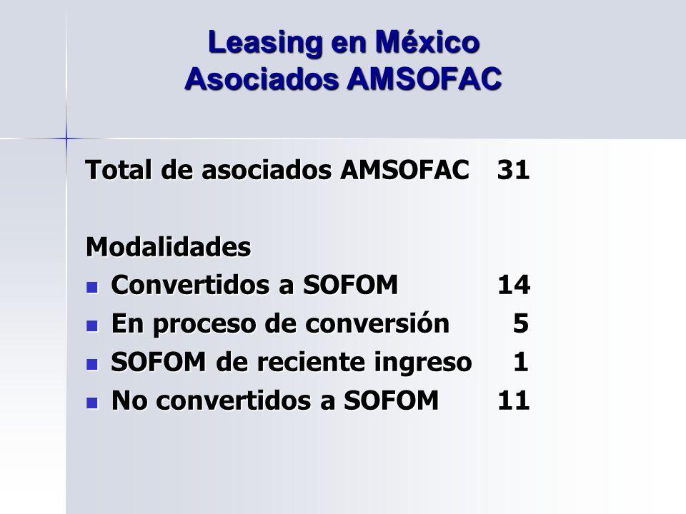 Leasing en México Asociados AMSOFAC