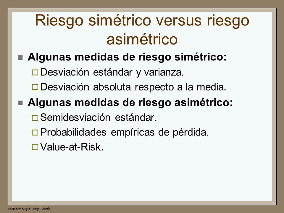 Riesgo simétrico versus riesgo asimétrico
