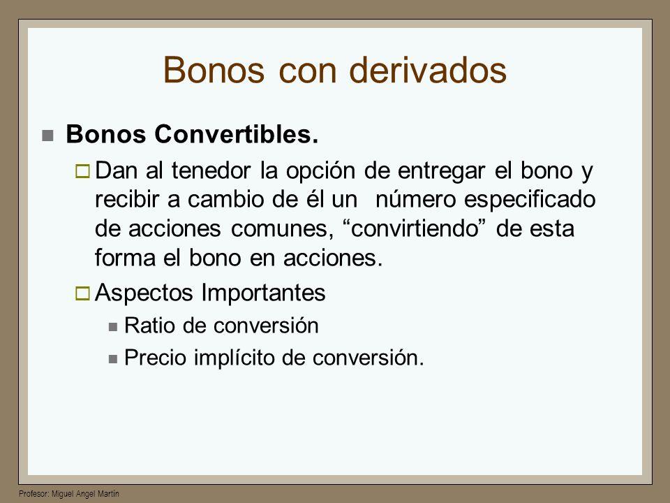 Bonos con derivados Bonos Convertibles.