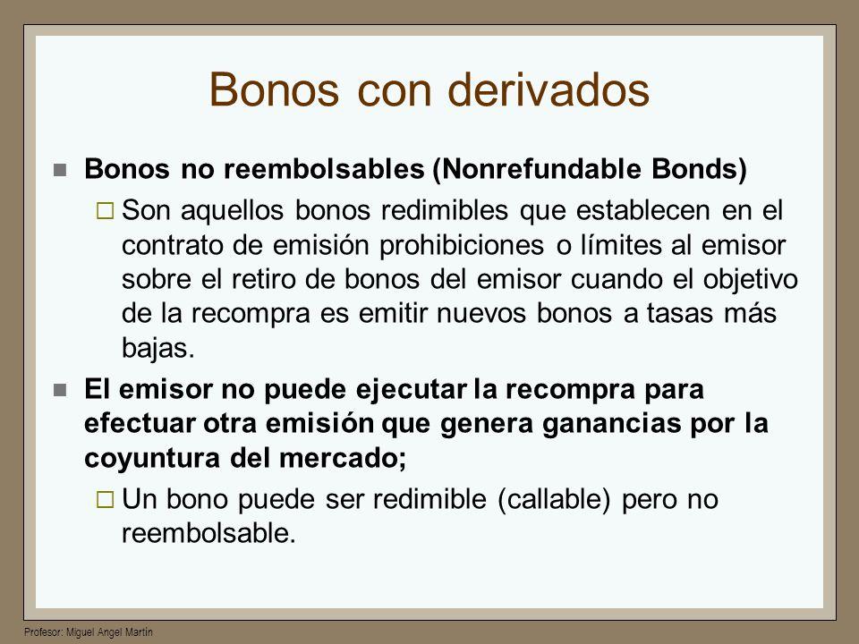Bonos con derivados Bonos no reembolsables (Nonrefundable Bonds)