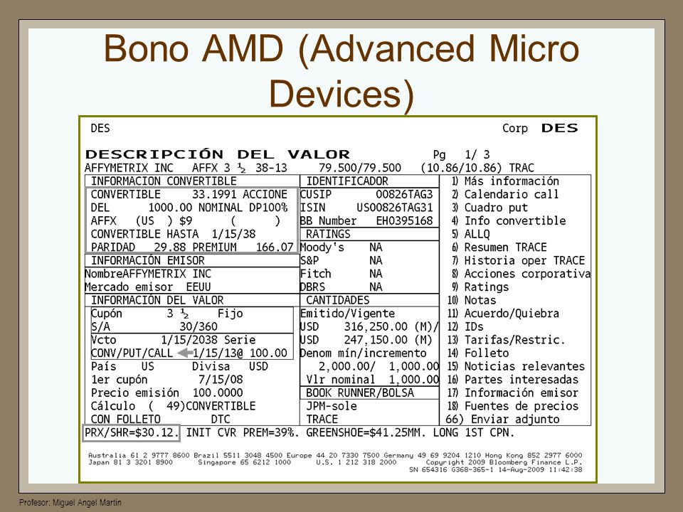 Bono AMD (Advanced Micro Devices)