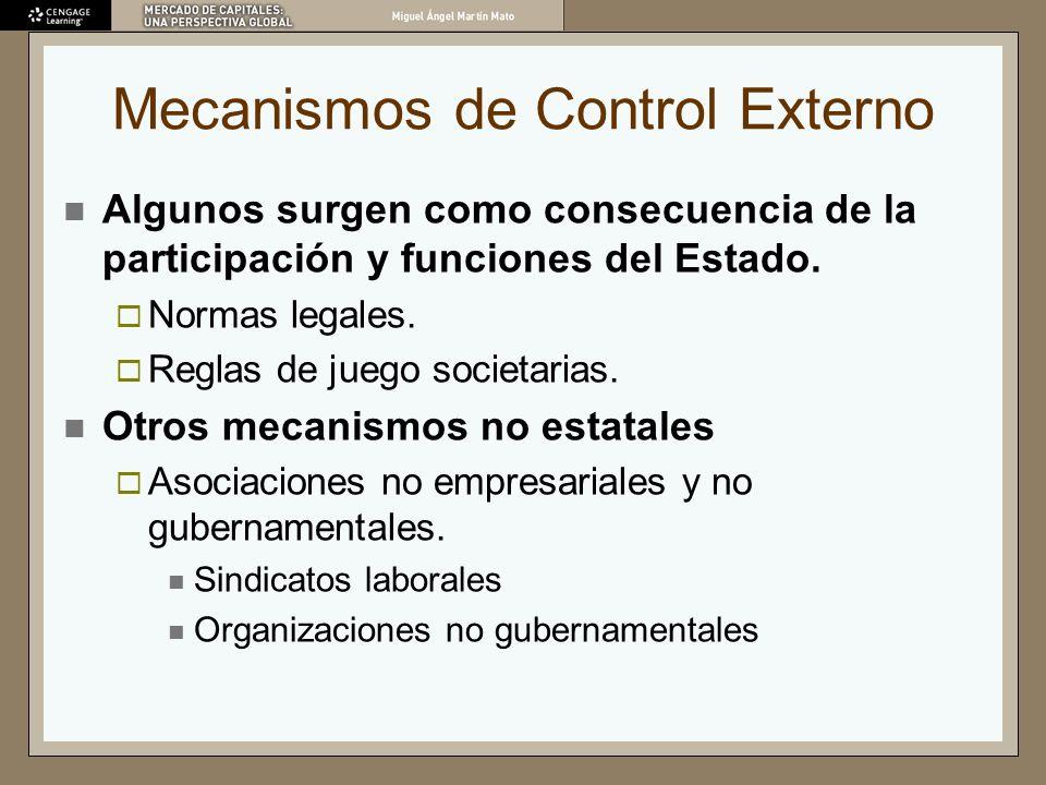 Mecanismos de Control Externo