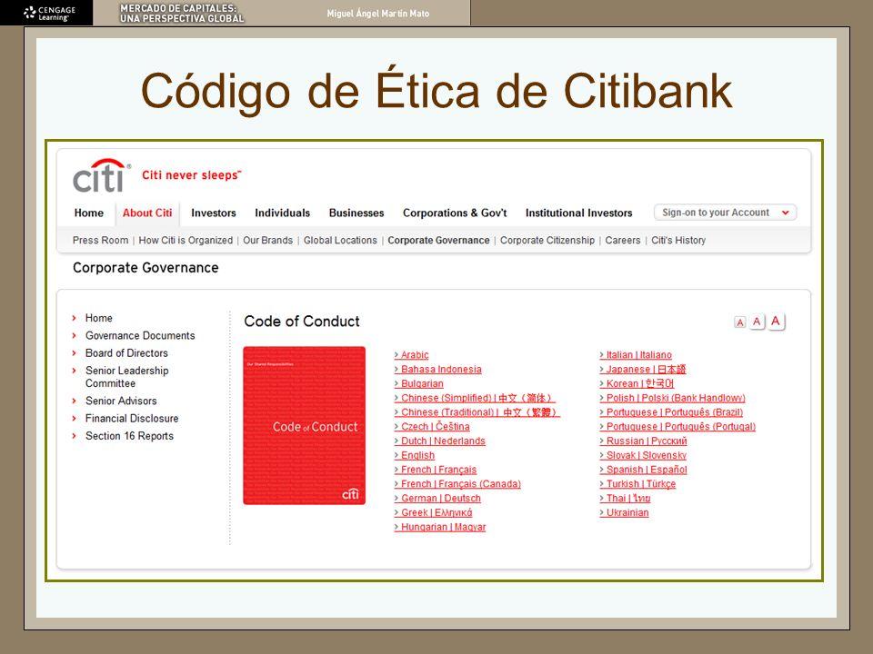Código de Ética de Citibank