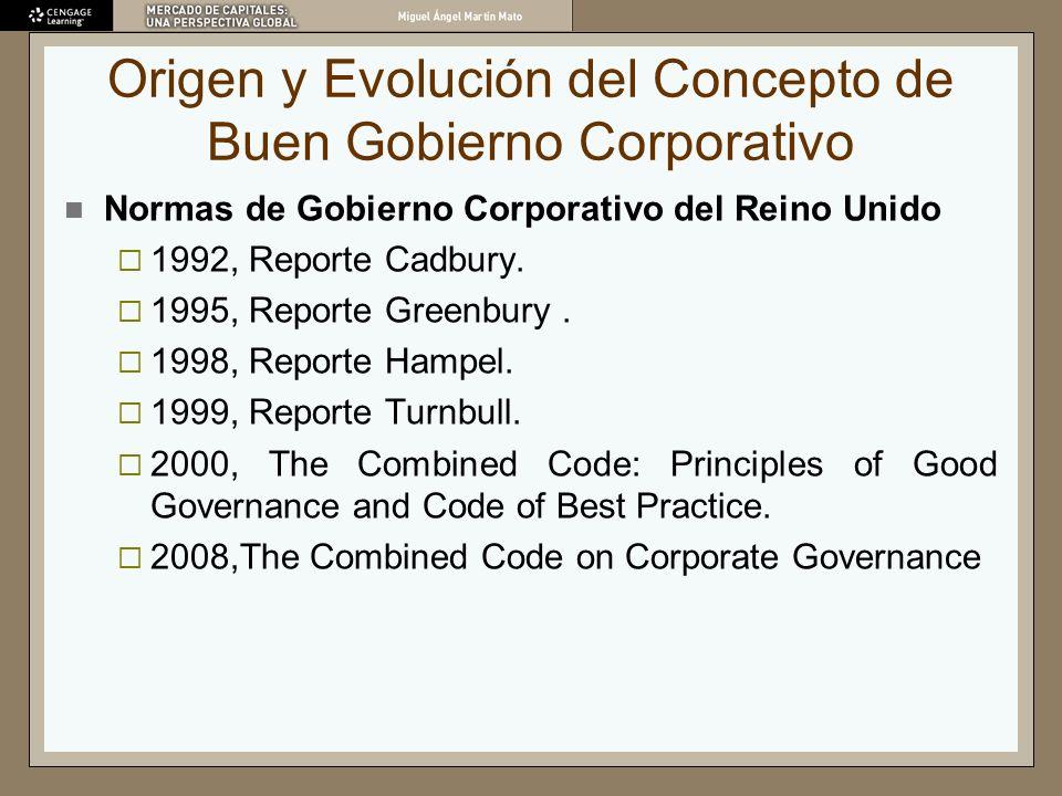 Origen y Evolución del Concepto de Buen Gobierno Corporativo