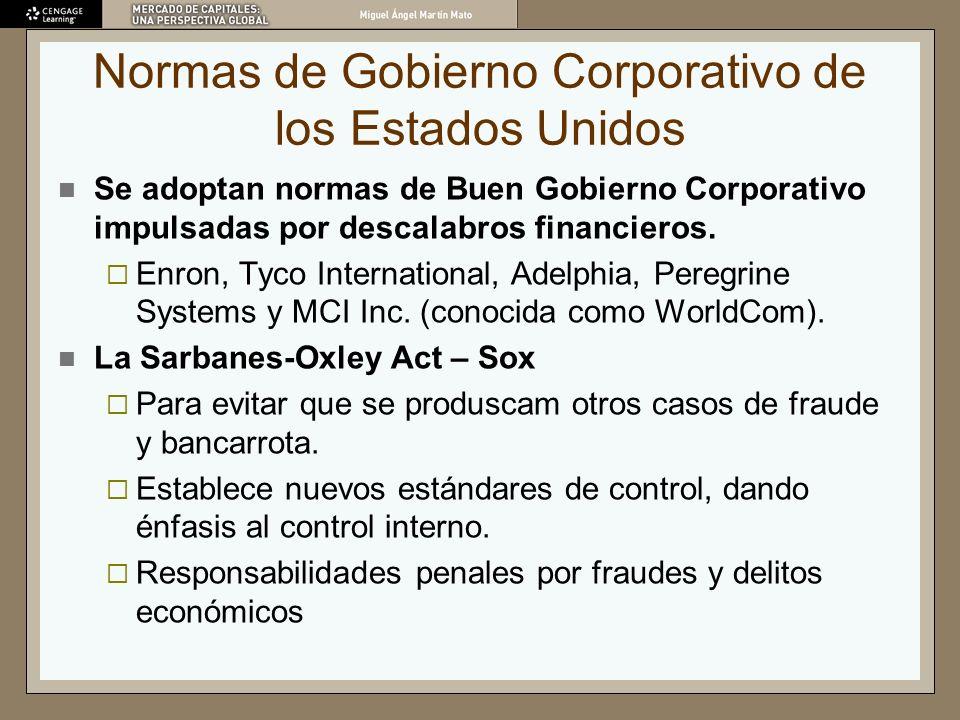 Normas de Gobierno Corporativo de los Estados Unidos