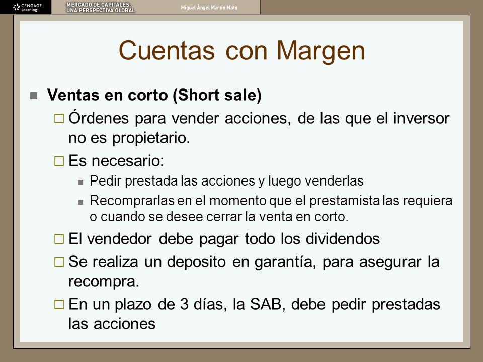 Cuentas con Margen Ventas en corto (Short sale)