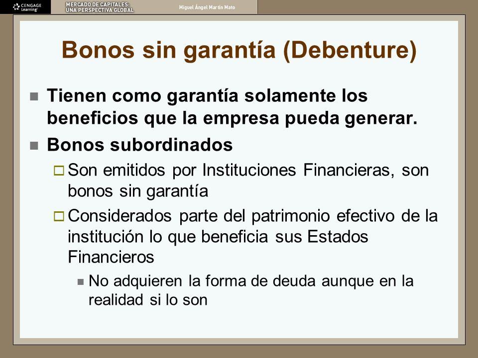 Bonos sin garantía (Debenture)