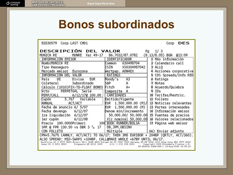 Bonos subordinados