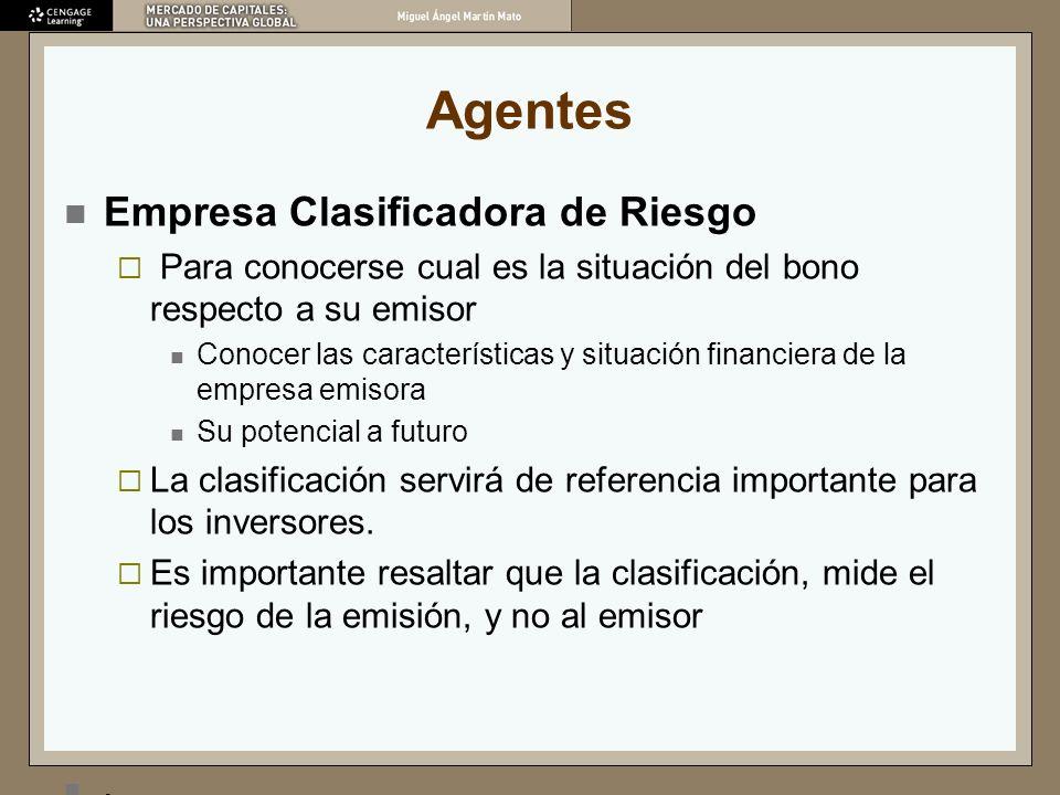 Agentes Empresa Clasificadora de Riesgo