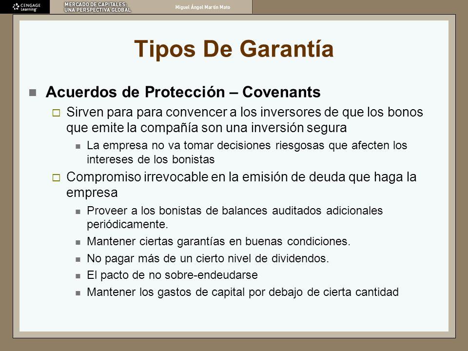 Tipos De Garantía Acuerdos de Protección – Covenants