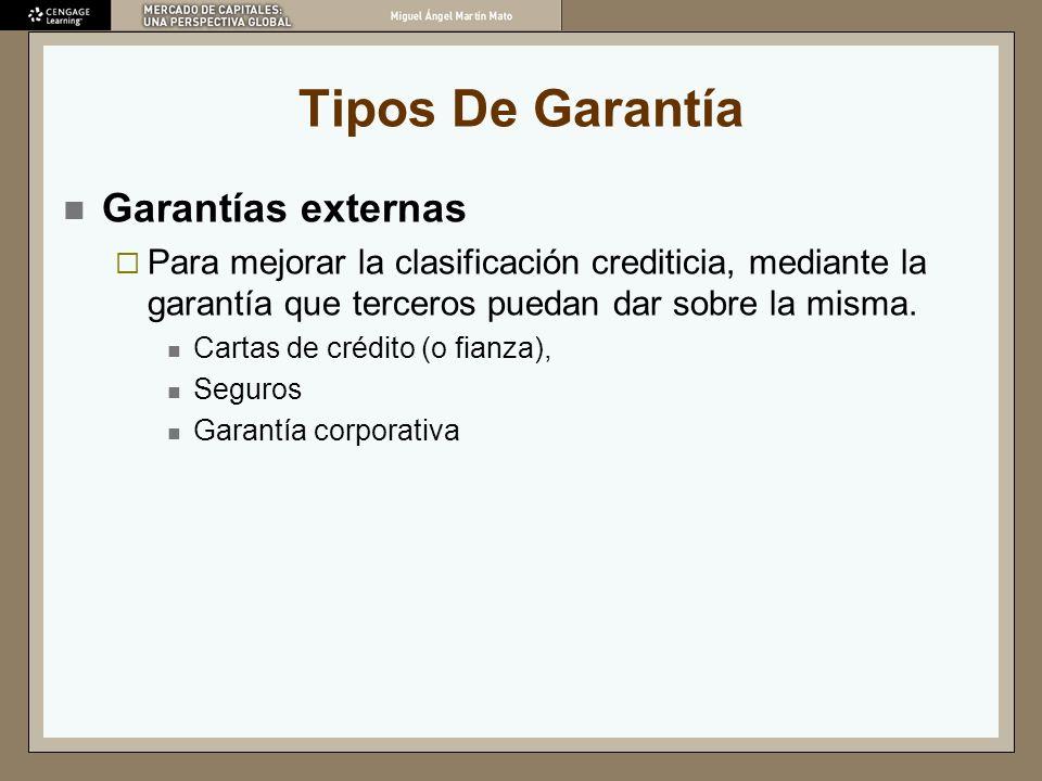 Tipos De Garantía Garantías externas
