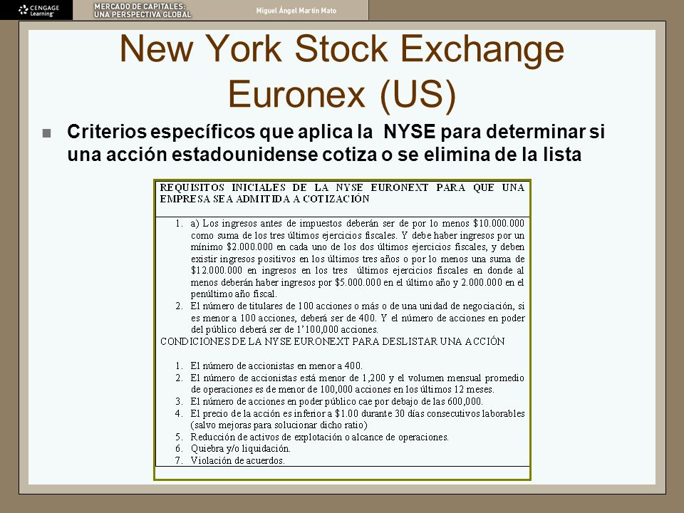 New York Stock Exchange Euronex (US)