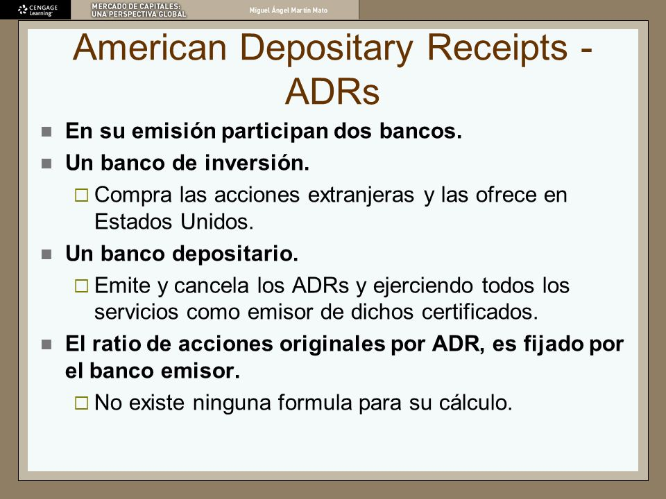 American Depositary Receipts - ADRs