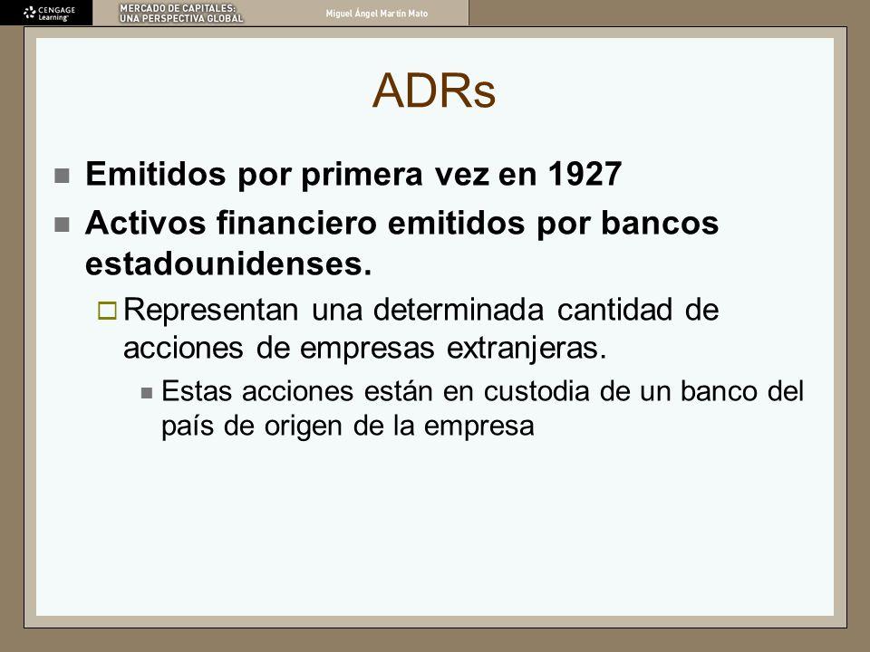ADRs Emitidos por primera vez en 1927