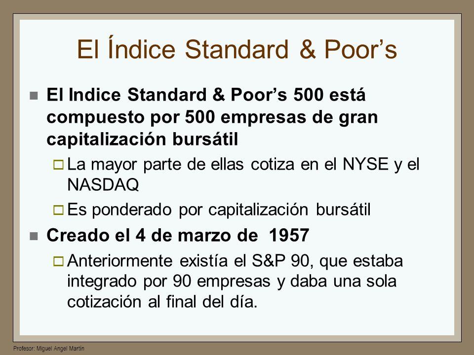 El Índice Standard & Poor's