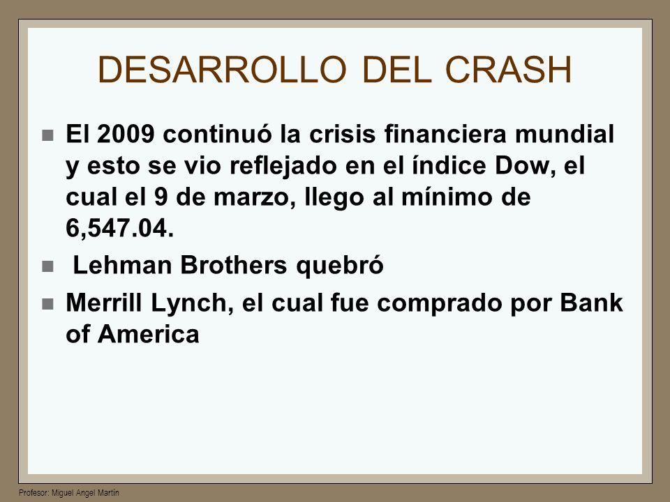 DESARROLLO DEL CRASH