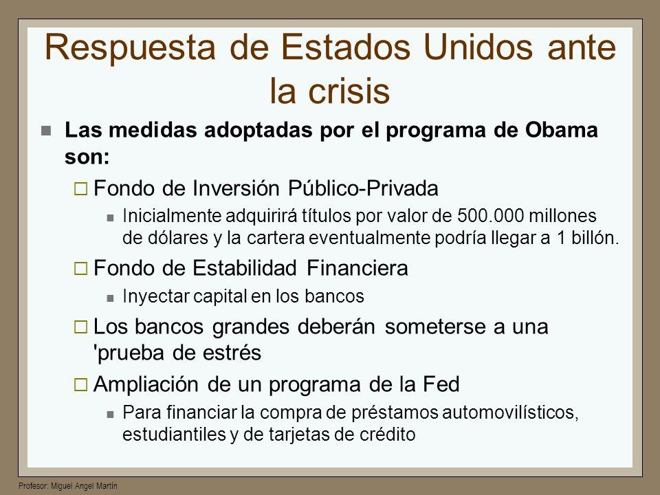 Respuesta de Estados Unidos ante la crisis