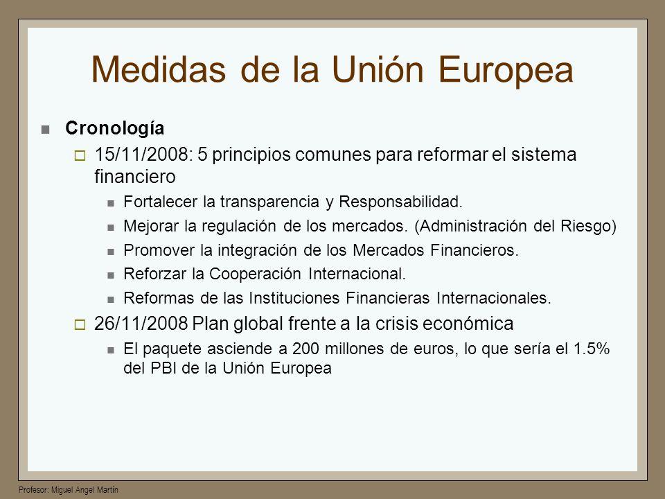 Medidas de la Unión Europea