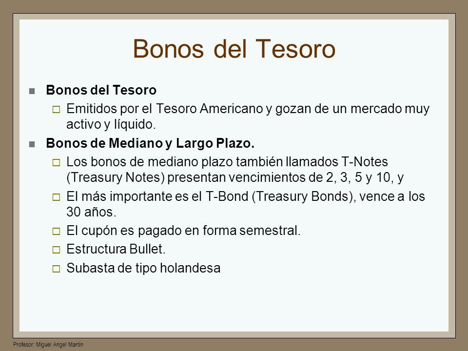 Bonos del Tesoro Bonos del Tesoro