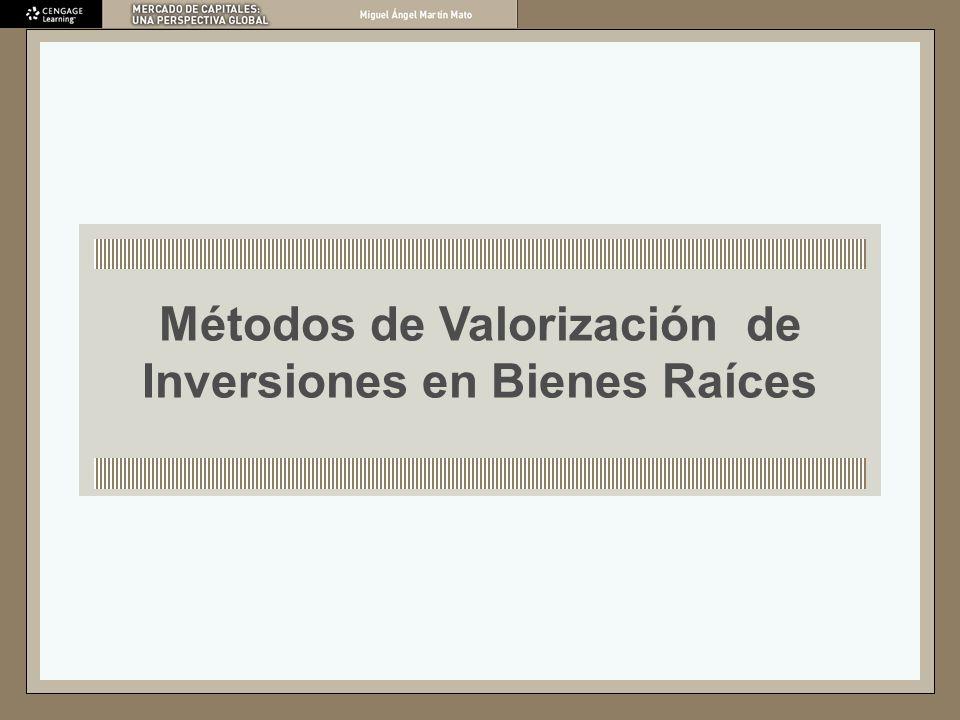 Métodos de Valorización de Inversiones en Bienes Raíces