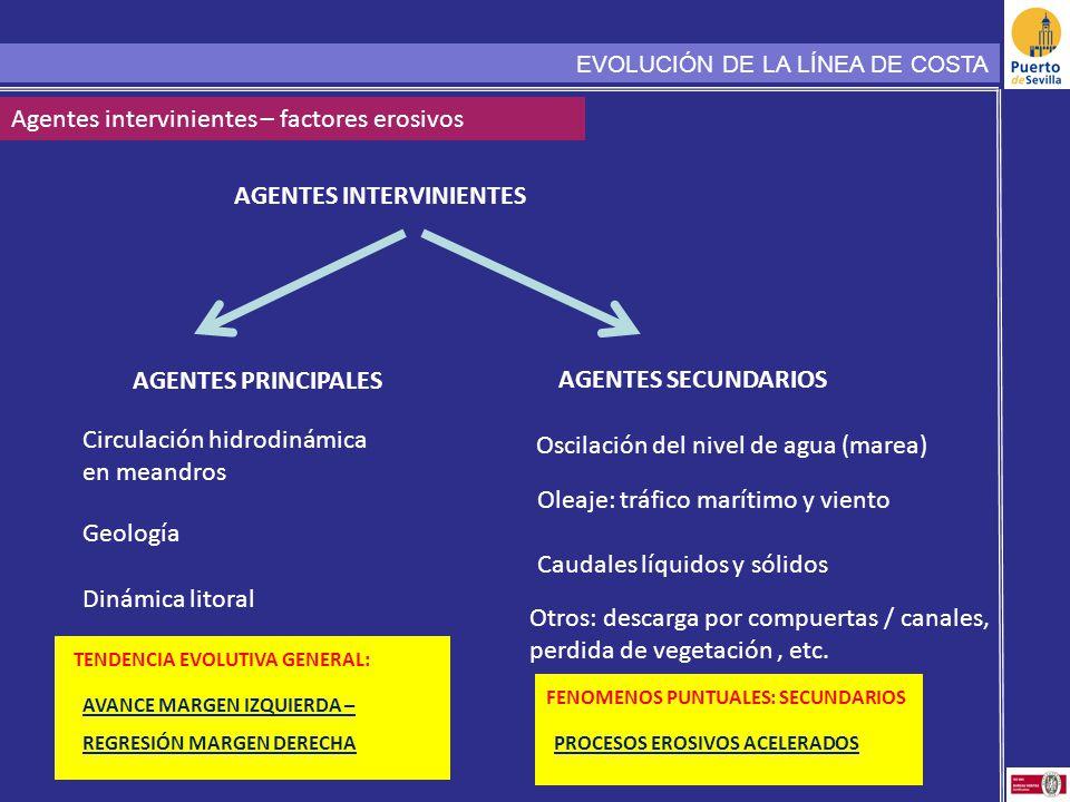 Agentes intervinientes – factores erosivos