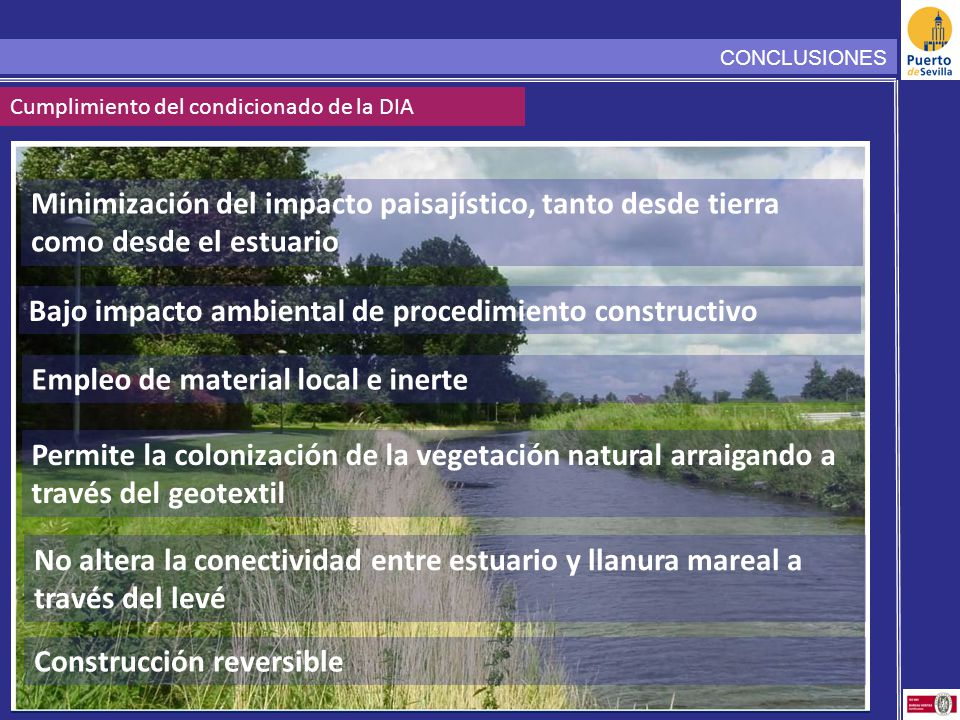 Bajo impacto ambiental de procedimiento constructivo