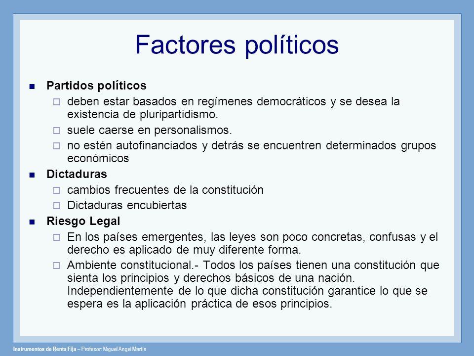 Factores políticos Partidos políticos