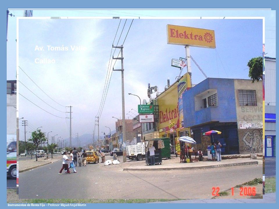 Av. Perú San Martín de Porres Carretera Central Ate Vitarte Av. Tomás Valle Callao