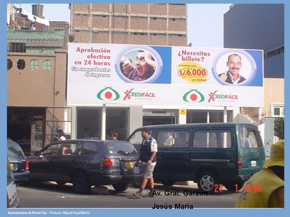 Av. Gral. Garzón Jesús María Av. Emancipación Centro de Lima Av. Perú San Martín de Porres