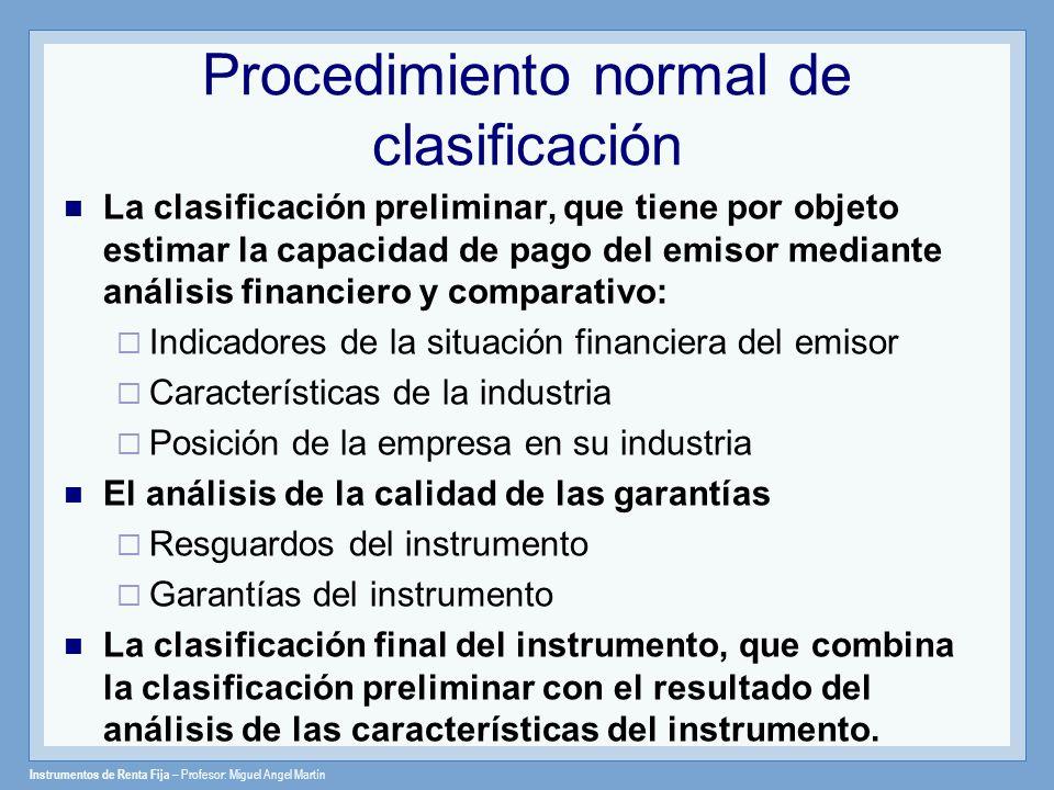 Procedimiento normal de clasificación