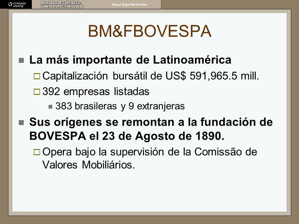 BM&FBOVESPA La más importante de Latinoamérica