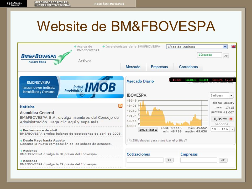 Website de BM&FBOVESPA