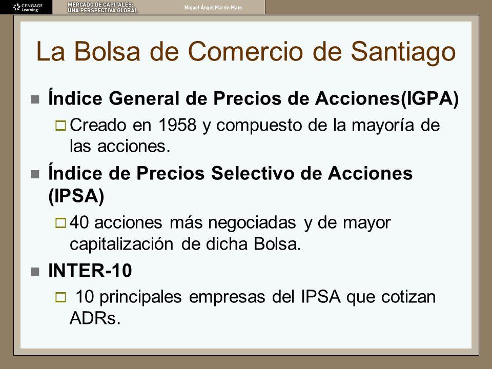 La Bolsa de Comercio de Santiago