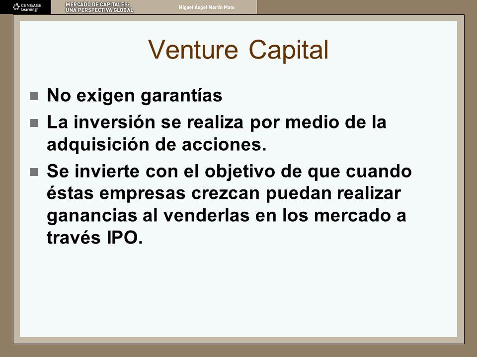 Venture Capital No exigen garantías