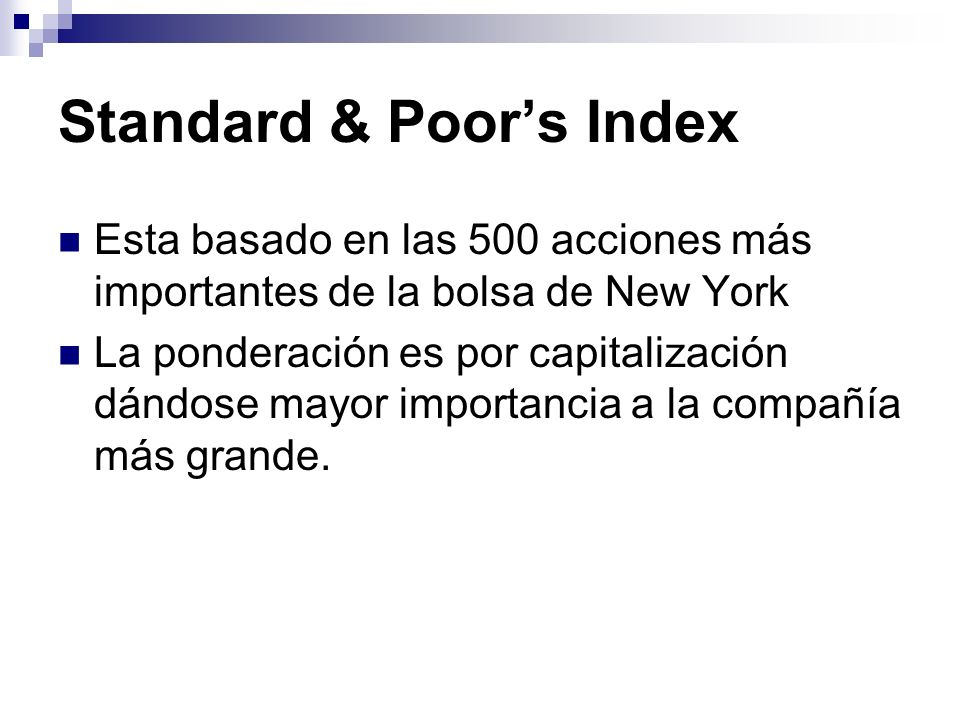 Standard & Poor's Index