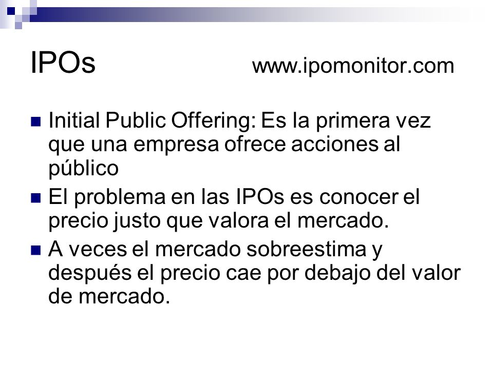 IPOs www.ipomonitor.com