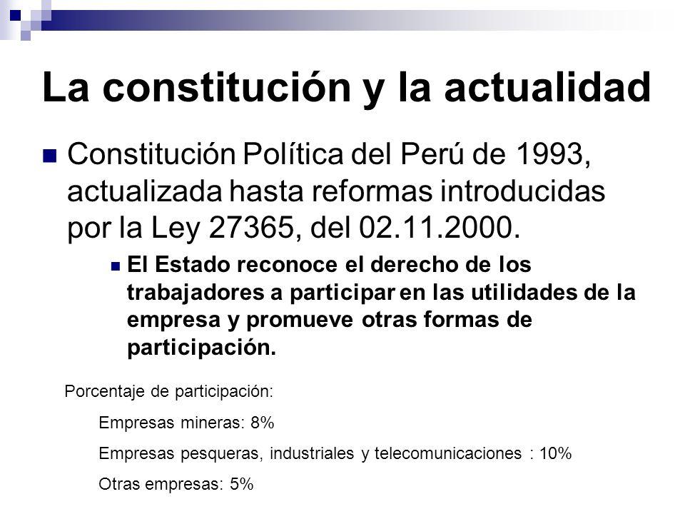 La constitución y la actualidad