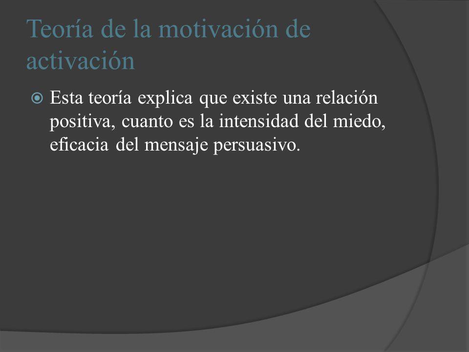 Teoría de la motivación de activación