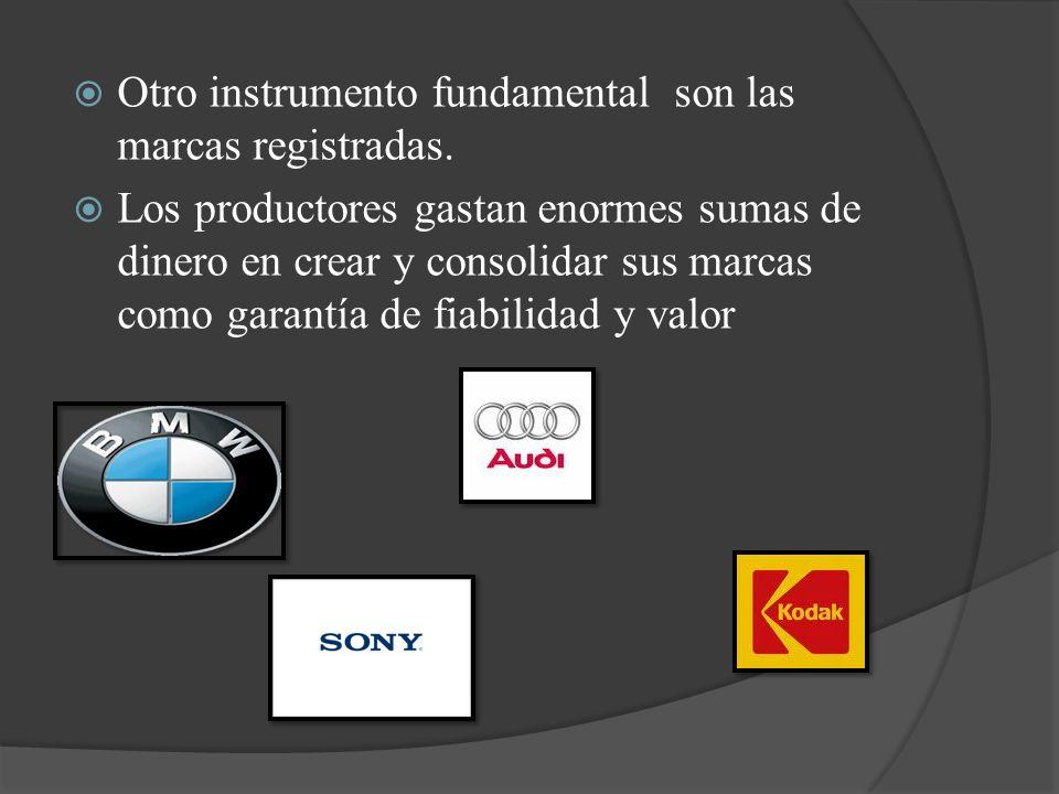 Otro instrumento fundamental son las marcas registradas.
