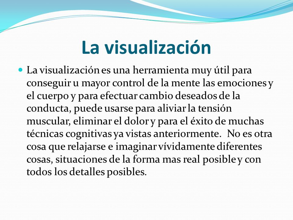 La visualización