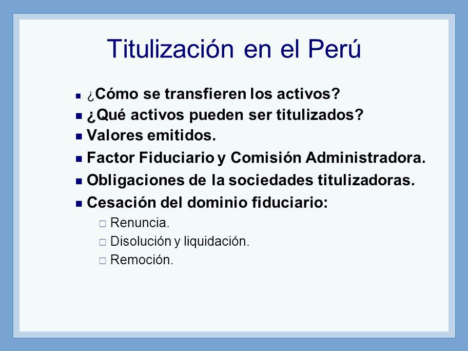 Titulización en el Perú