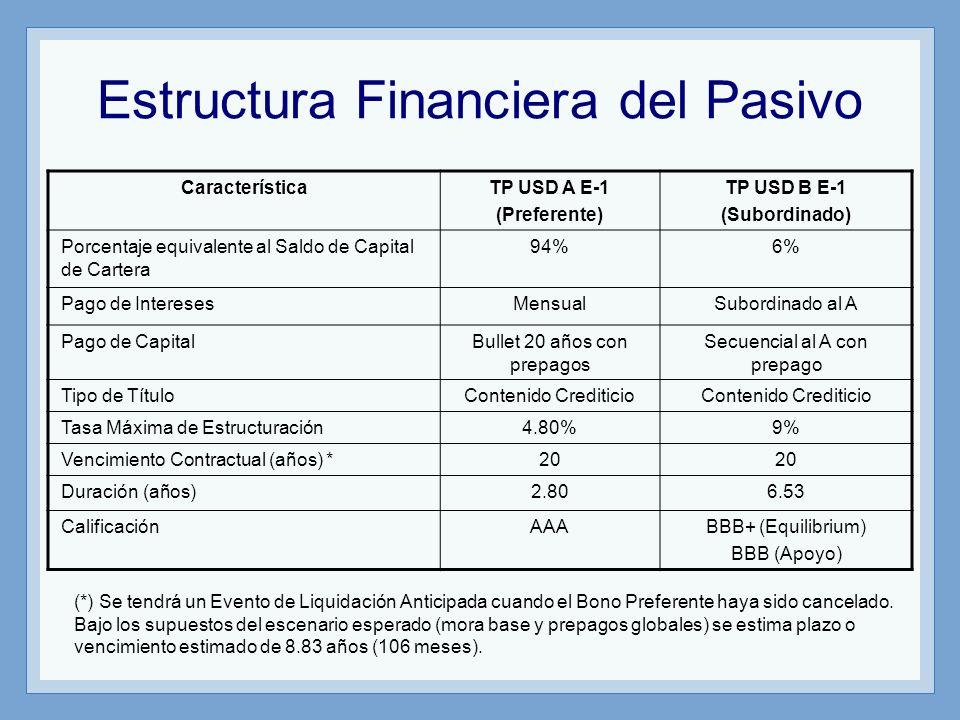Estructura Financiera del Pasivo