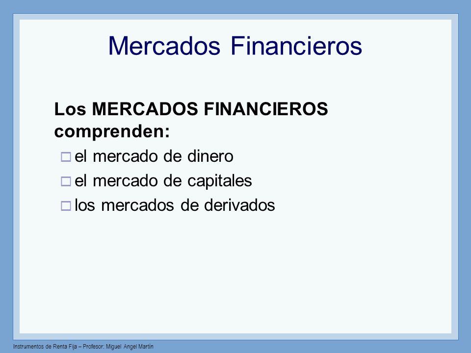 Mercados Financieros el mercado de dinero el mercado de capitales