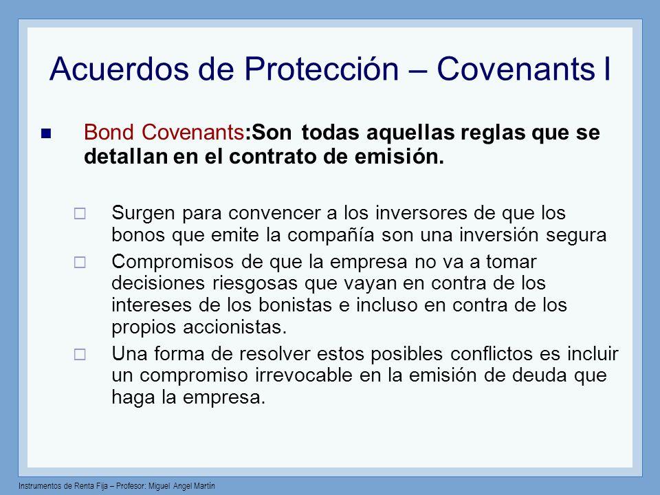 Acuerdos de Protección – Covenants I
